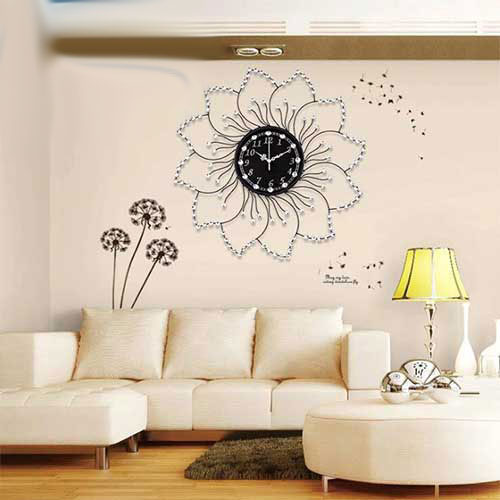 Đồng hồ trang trí treo tường hoa