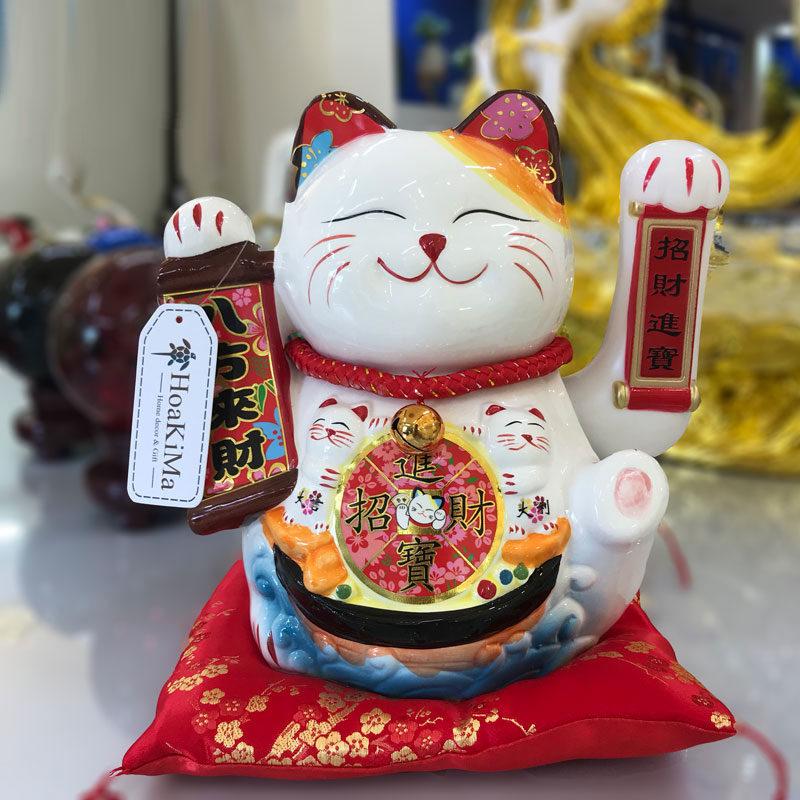 Đồ trang trí kệ tivi mèo thần tài